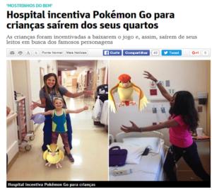 Pokemón GO no tratamento para crianças